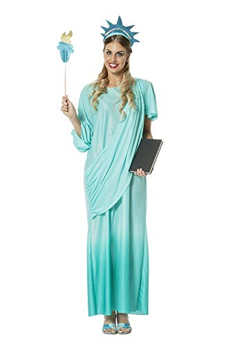 TH-MP Freiheitsstatue Kostüm Miss Liberty Damenkostüm Fasching Karneval Mottoparty (34)