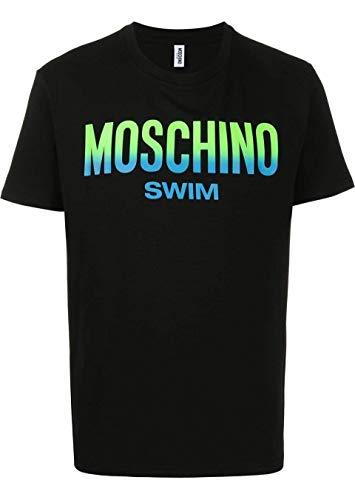 Moschino Swim Luxury Fashion Uomo A190223030555 Nero T-Shirt (XS)