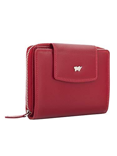 BRAUN BÜFFEL Geldbörse Golf 2.0 mit Reißverschluss - aus echtem Leder - 12 Fächer M Rot
