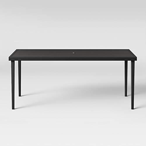 Fairmont Steel Patio Dining Table Black - Threshold™