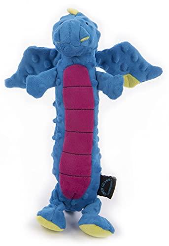 goDog Jouet Dragon avec Protection Anti-Mastication Bleu Taille L