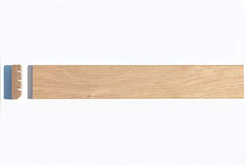 BATTISCOPA in LEGNO MASSELLO ROVERE mm.45x12 GREZZO