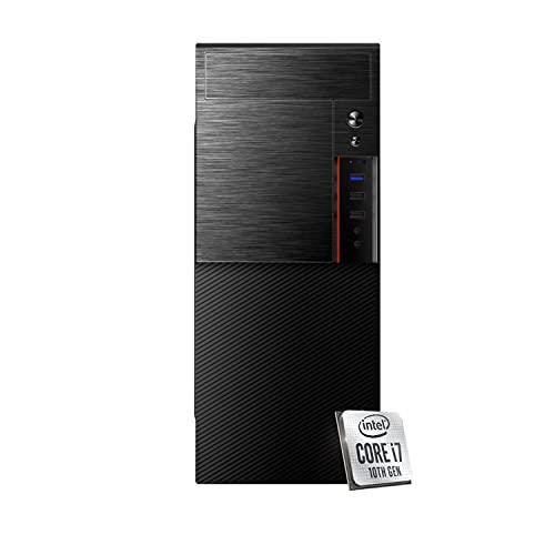 INVENTIVE M700 - Pc fisso intel i7 10700 8 Core fino a 4.80 Ghz,Ram 8 Gb Ddr4,Ssd 256Gb NVMe + Hdd 1 TB,Pc desktop intel,Grafica Uhd 630,Lettore masterizzatore,Windows 10 Pro, Computer fisso