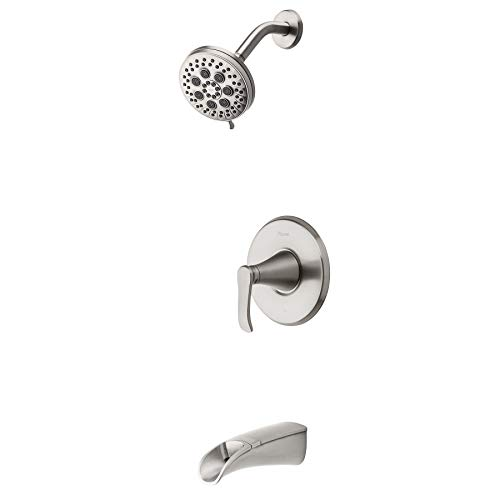 Pfister 8P8-WS2-JDSGS Jaida Tub and shower faucet with Adjustable Spray Width, Spot Defense Brushed Nickel