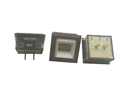 Japan NKK UB-04H1KS1M Interruptor de botón con luz luminosa cuadrada de 2 pies de luz táctil reset