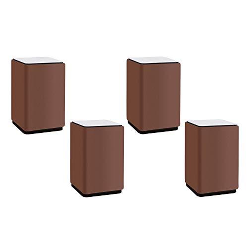 4pcs Möbelerhöhung aus Karbonstahl,Unterstützt 4400lbs, Quadrat,Fügt Höhe zu Sofas,Selbstklebende Möbelerhöher Betterhöhung Tischerhöher Bed Riser Sockelfuß Stuhlerhöhung,Schränke(4x4x5.2cm)