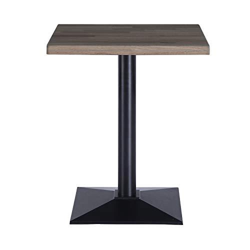 Adec - Moss, Mesa de Comedor, Salon, Mesa Auxiliar, Color Roble Boreal y Negro, Medidas: 70 cm (Largo) x 70 cm (Ancho) x 72 cm (Alto)