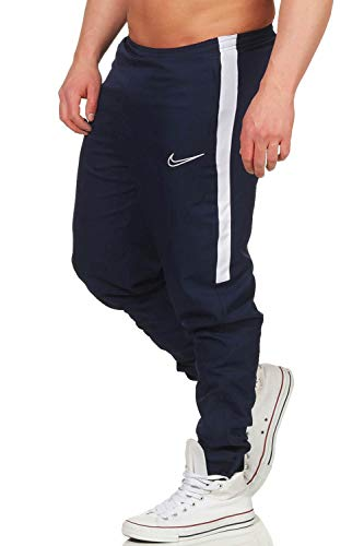 NIKE M NK Dry Acdmy19 Pant Wpz Sport Trousers, Hombre, Obsidian/White/White, L