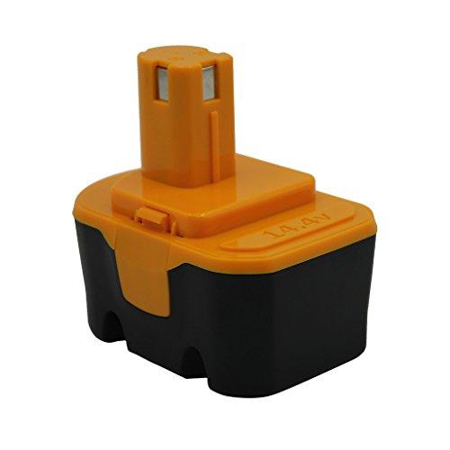 Kinon Reemplazo Herramienta Eléctrica Batería 14.4V 2.0Ah para Ryobi Taladro inalámbrico Destornillador 130224010 130281002 1314702 1400144 1400655 1400656 1400671 4400011 130224017 HP1441 RY6201
