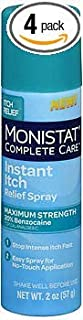 Monistat Complete Care Instant Itch Relief Spray - 2 oz, Pack of 4