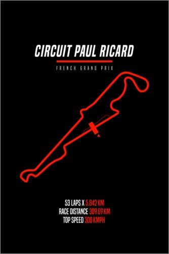 Posterlounge Holzbild 60 x 90 cm: F1 Grand Prix von Frankreich (Paul Ricard Circuit) von Michael Tarassow