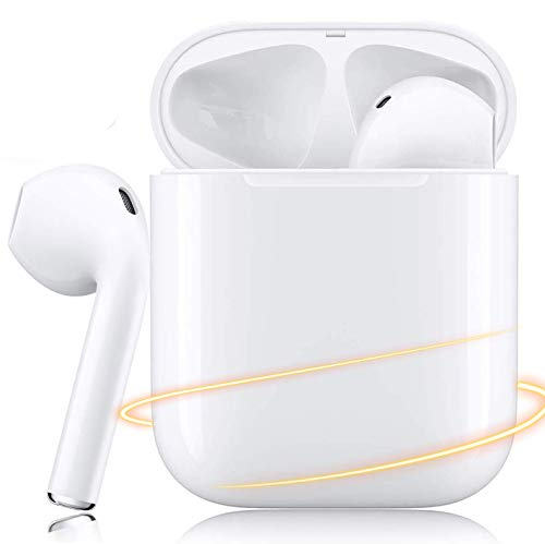 Wireless Earbuds Bluetooth 5.0 Headphones Noise Canceling IPX5 Waterproof Earphones in-Ear Built-in Mic 3D Sound Headsets with Fast Charging Case for Apple/Airpods/Android/iphone/AirPods Pro
