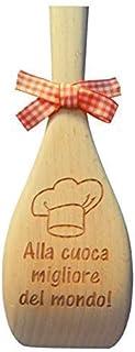 CUCCHIAIO da cucina in Legno di faggio PERSONALIZZABILE Idea REGALO per la Festa della Mamma Compleanno NONNA o NATALE per...