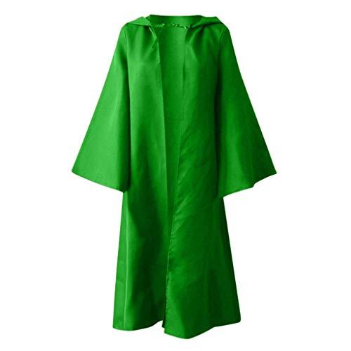 Plot Damen Umhang mit Kapuze Halloween Herbst Winter Gotisch Lose Umhang Kapuzenjacke Mantel Poncho Kap Trenchcoat Outwear