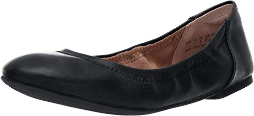 Amazon Essentials Women's Belice Ballet Flat, Black, 7 B US