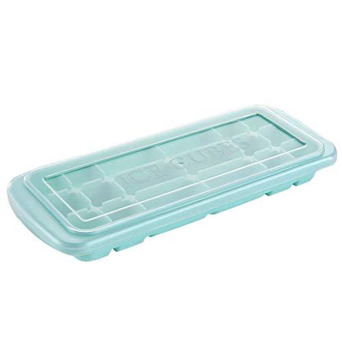 Stampo combinato per cubetti di ghiaccio, in silicone, per sushi giapponese, ideale per feste in casa, per creare palline di ghiaccio con coperchio e stampi quadrati grandi (verde)