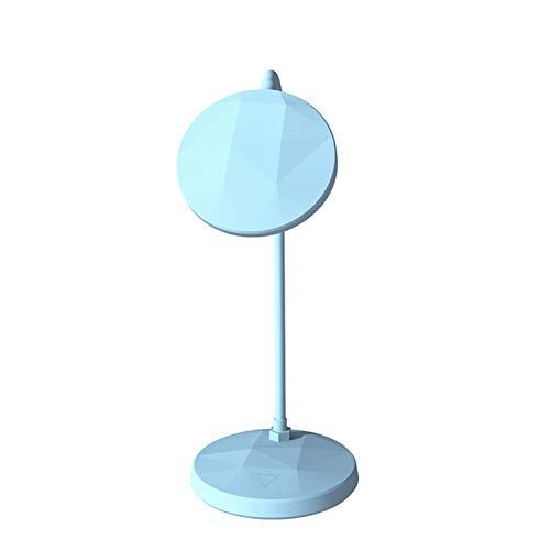 YSVSPRF Lámpara Escritorio Forma de Diamante Soporte LED lámpara de Escritorio Modos de atenuación Lámpara Cuello de Cisne Estudio lámparas de Mesa Lámpara (Body Color : Light Blue)