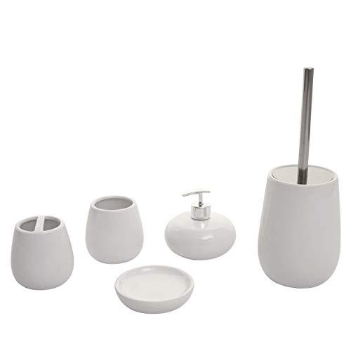 Mendler Set Accessori da Bagno HWC-C72 Ceramica Bianco