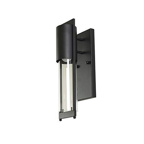 HG-JIAJUR Wandlamp Vintage Wandlamp in industrieel design, retro wandlamp van metaal met glas gelscherm in rust, 1-Light E27 fitting voor slaapkamer restaurant