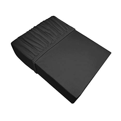 Eurofirany Bedlaken Laken Hoeslaken Hoeslaken Eenvoudig patroonloos Katoen Oeko-Tex 1 stuks, Zwart, 160x200+30cm