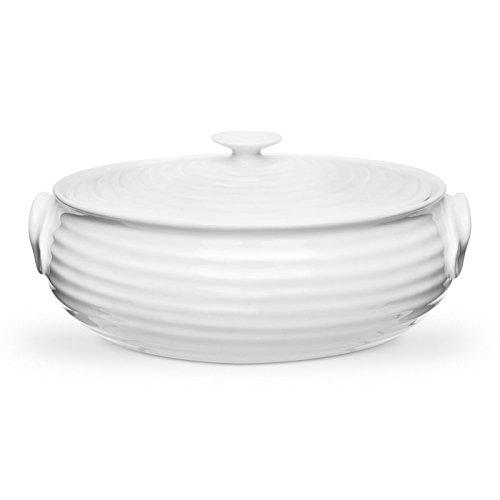 Portmeirion Home & Gifts CPW76513-X Cacerola ovalada pequeña, porcelana, Blanco