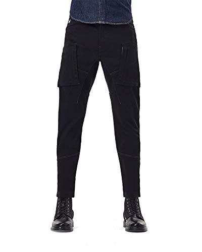 G-STAR RAW Zip Pocket 3D Skinny Cargo Pantaloni, Dk Black C105-6484, 33 W/28 L Uomo