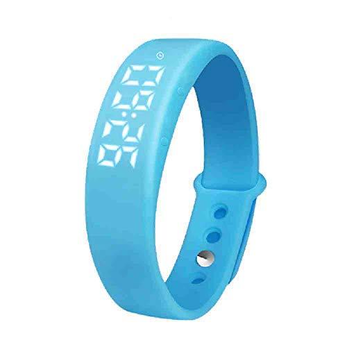 DSNGZ Reloj de Pulsera Producto Reloj Led Multifuncional Hombres Pulsera Relojes Luz Led Moda Electrónica Reloj Wris Reloj Hombre SL-W5, Azul