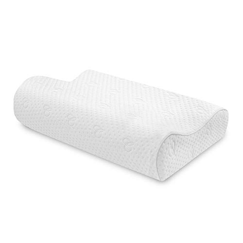 Charisma Gel-Infused Memory Foam Pillow, Contour, White