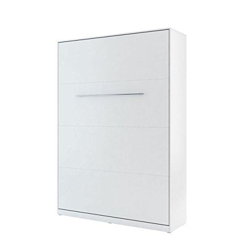 Mirjan24 Schrankbett Concept Pro I Vertical, Wandklappbett inkl. Lattenrost, Bettschrank, Wandbett, Schrank mit integriertem Klappbett, Funktionsbett, Farbauswahl, (140x200 cm, Weiß)