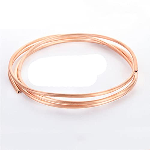 1m T2 Bobina de cobre rojo 2/3/4/5/6 / 8mm Tubo de cobre Aire acondicionado Tubo de cobre Tubo suave 99.9% T2 Cobre Manual DIY Tubo de enfriamiento-OD 2 x T 0.5