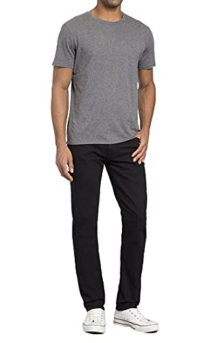 Mavi Mens Jake Regular Rise Slim Leg Jeans, Black Williamsburg, 34W x 30L