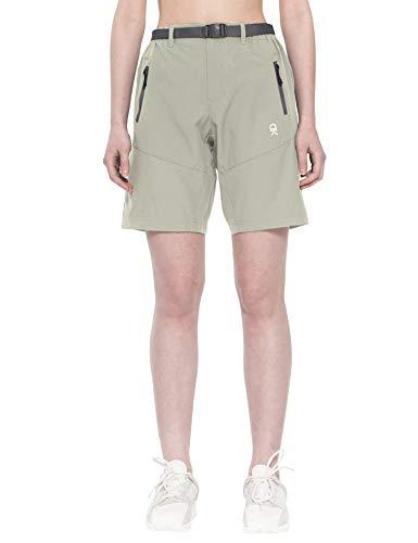 Little Donkey Andy Pantalones cortos de carga elásticos para mujer, de secado rápido, para senderismo, camping, viajes, color caqui, talla XL