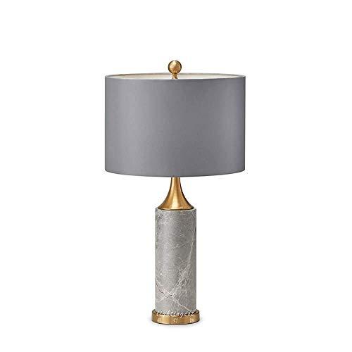 HtapsG Lámpara Escritorio Lámpara de Mesa de mármol de Aprendizaje Simple para Hotel, lámpara de Mesa para Sala de Estar Moderna, lámpara de Noche para Dormitorio nórdico, 38x68cm