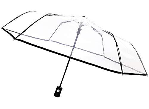 SMATI Regenschirm Taschenschirm transparenter - Kompakt - STABIL - Automatik (Transparenter)