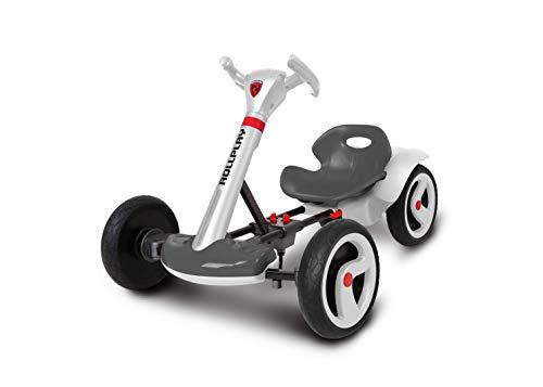 Rollplay 6V Flex Kart, Folding Electric Ride On Car, White/Grey