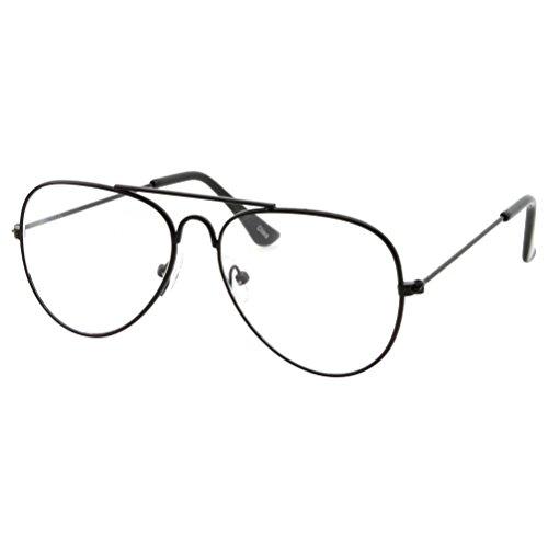 Gafas de ojo de aviador falsas para niños con lente transparente sin receta (edad 3 – 10)