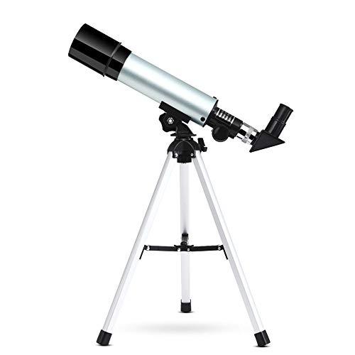 Protable astronómico telescopio monocular Comienza con retráctil Principiante niños, con 4 Grupos de Lentes, 38cm trípode, Astilla