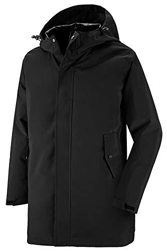 Wantdo Men's Long Rain Jacket Packable Hooded Windbreaker Rain Wear Black M