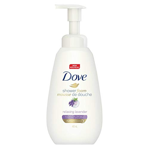 Dove Shower Foam Relaxing Lavender Body Wash, 13.5 fl oz (Pack of 2)