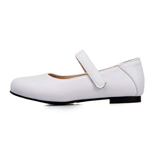 Dames Ballet Flats Klassiekers Ronde Neus Mary Jane-schoenen Enkelband Effen Kleur Sweet Casual Loafers Ondiepe Mond Zachte Werkschoenen