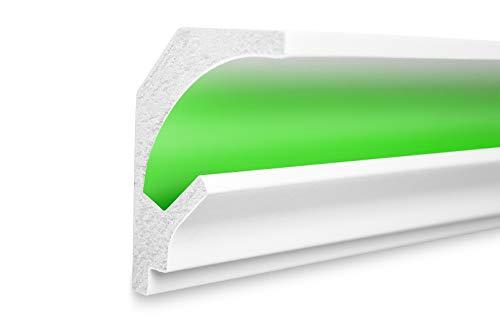 1,15 m | LED Profil | XPS | indirekte Beleuchtung | Trockenbau | lichtundurchlässig | Rigips | Tesori | 115x90mm | KD201