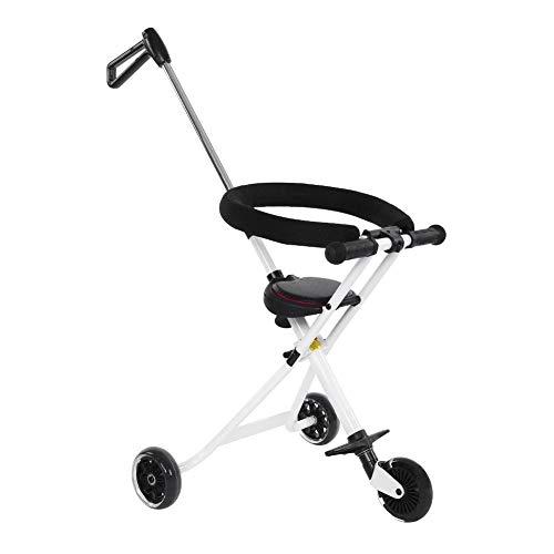 Wakects driewieler voor kinderen, opvouwbaar, Deluxe-driewieler met schuiver, Baby Trike kinderwagen, lichtgewicht, 30 kg belastbaar, met 360 graden wieltjes, geschikt voor uitstapjes
