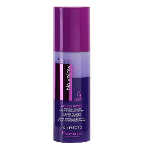 Fanola No yellow Care 2-Phase Potion Bi-Phase Leave in Conditioner, 150 ml