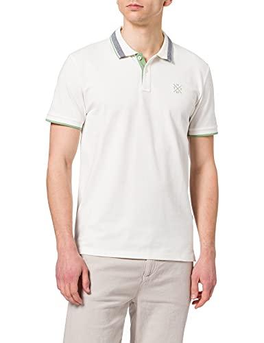 TOM TAILOR Herren 1026007 Basic Polohemd, 10332-Off White, M