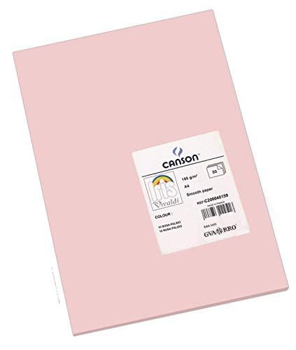 Canson 200040159 - Papel de colores (A4, 50 unidades), rosa petalo
