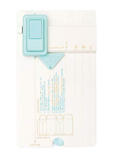 Rayher 58593000 Gift Bag Punch Board von We R Memory Keepers, 13 x 23 x 4 cm, Stanz- und Falzbrett zum Herstellen von Geschenktüten in verschiedenen Größen