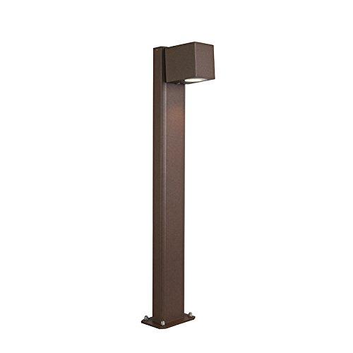 QAZQA Modern Industriële staande buitenlamp roestbruin 65 cm IP44 - Baleno Aluminium/Glas Langwerpig Geschikt voor LED Max. 1 x 11 Watt