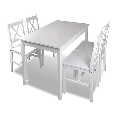 PHH Muebles de Comedor Moderno Mesas de Comedor Conjuntos de 4 sillas Madera Madera Café Mesa de Comedor Conjunto de EE.UU. Warehouse