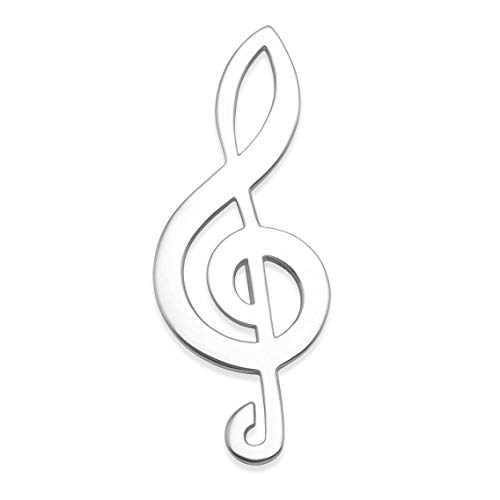 Heather Needham Steling Silver Treble Clef brooch - SIZE: 44mm x 16mm (1.75' x .65') GIFT BOXED 9074