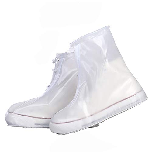 Shiwely Shoes Cover Waterproof Sand Control Non-Slip Shoes Cover Reusable Rain Snow Boots Overshoes for Cycling Outdoor Camping Fishing Garden Travel Women Men (XL(Women 7.5-9 Men 5.5-7), White)